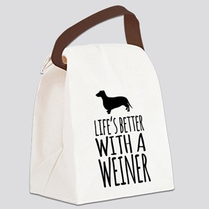 Life's Better With a Weiner Canvas Lunch Bag
